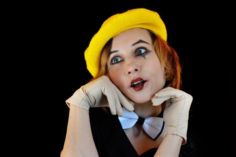 twarz clowna-mima