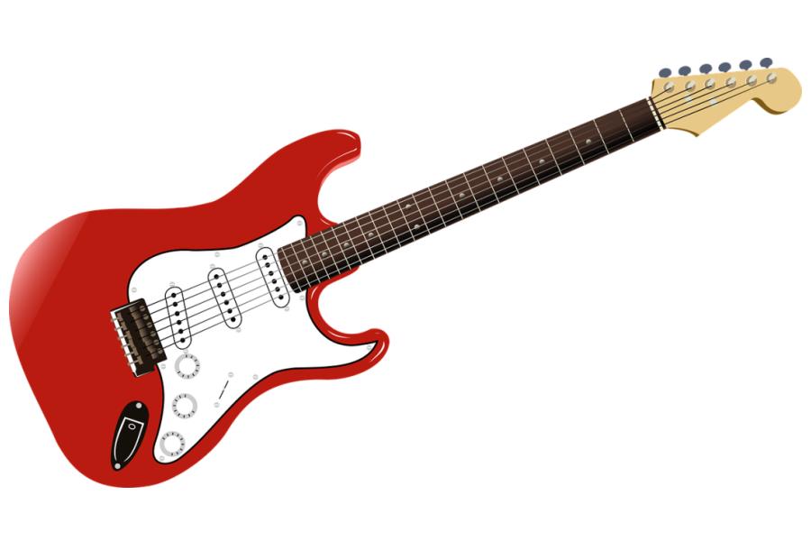 biało-czerwona gitara