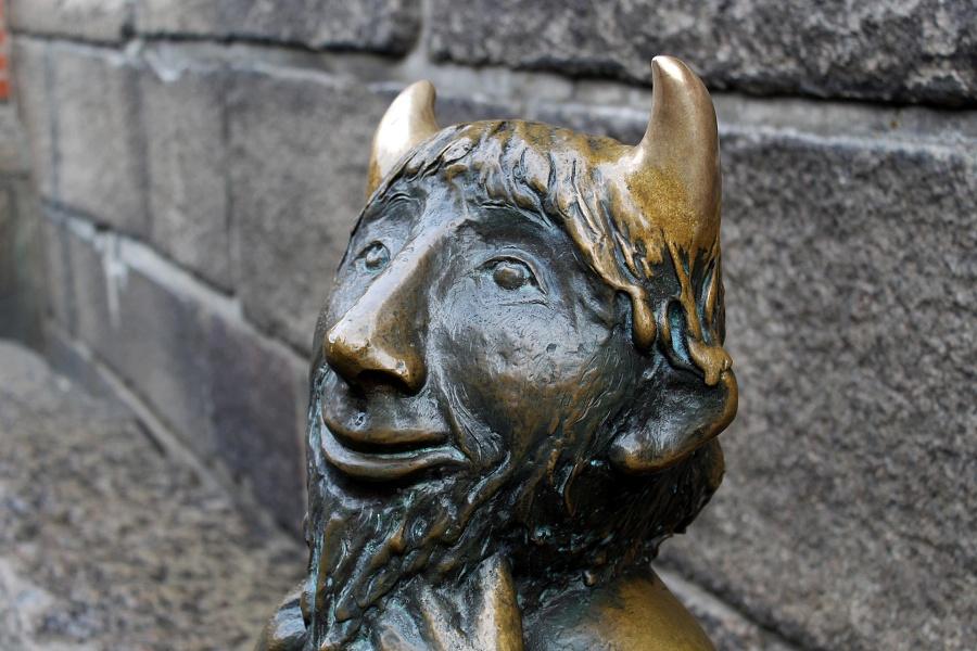 rzeźba diabła