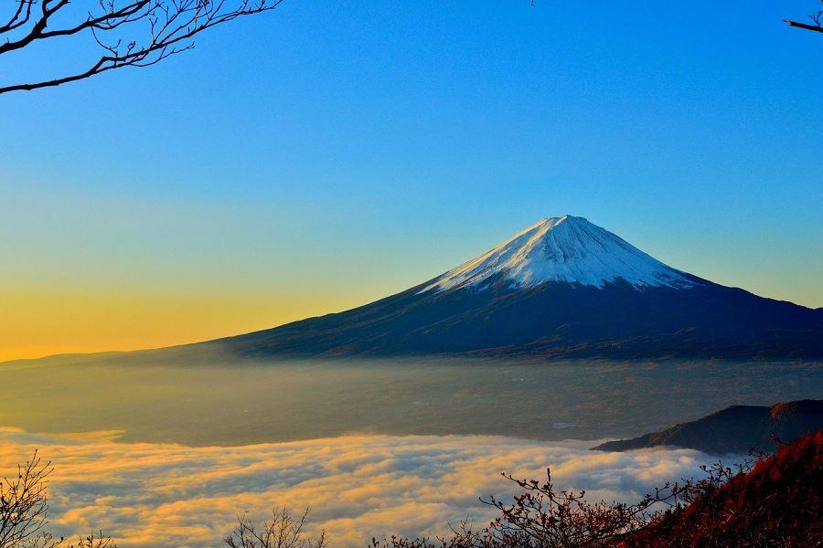 szczyt gór Fudżi