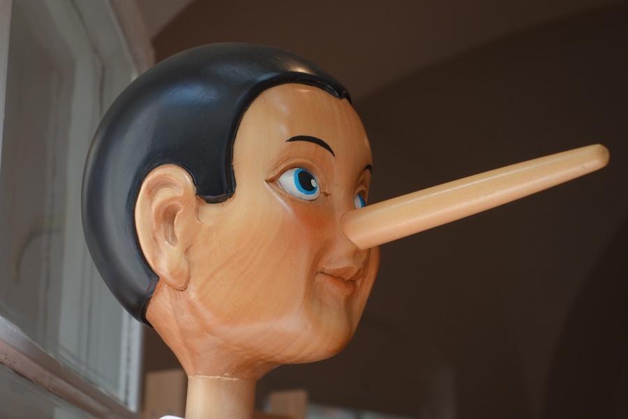 drewnianan głowa Pinokia