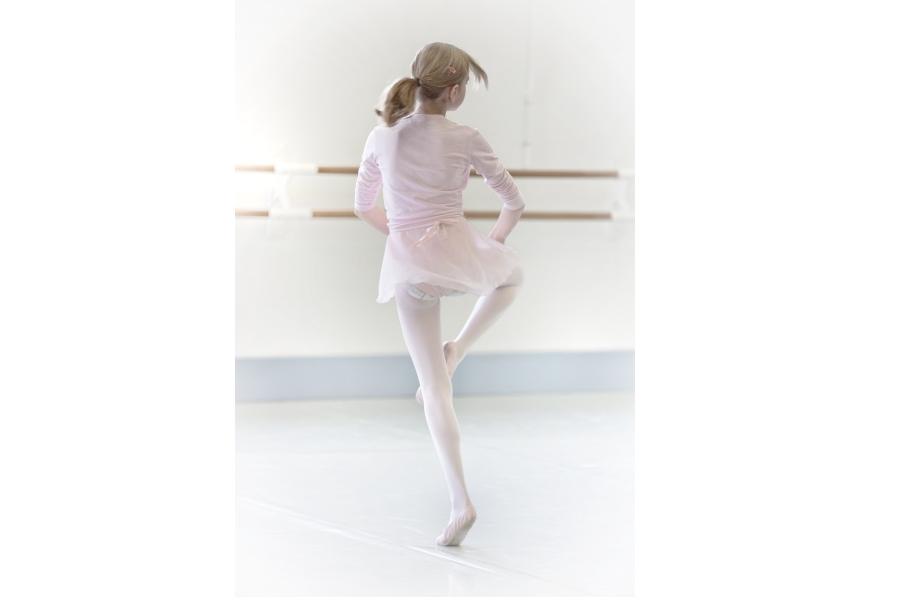 tancerka wykonująca obrót na passe