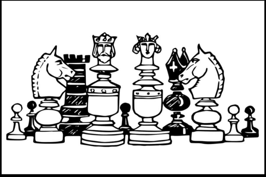 grafika przedstawiająca figury szachowe