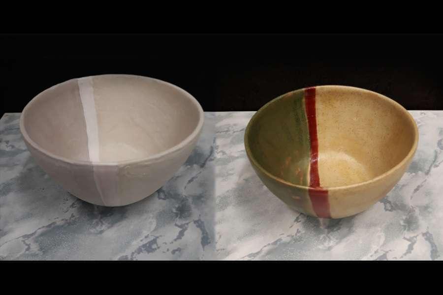 dwa kubki ceramiczne