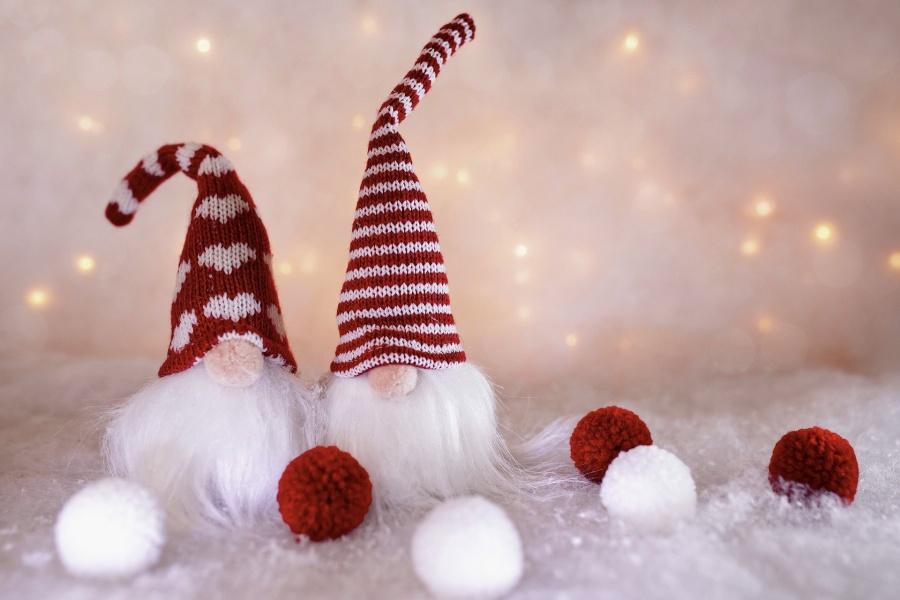 ozdoby świąteczne dwa mikołaje