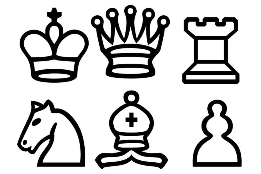 Figury szachowe – grafika wektorowa