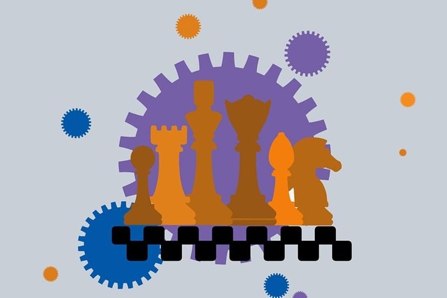 grafika kolorowe figury szachowe
