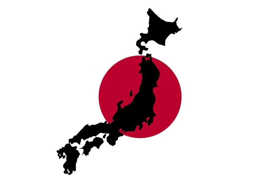 grafika przedstawiająca zarys Japonii