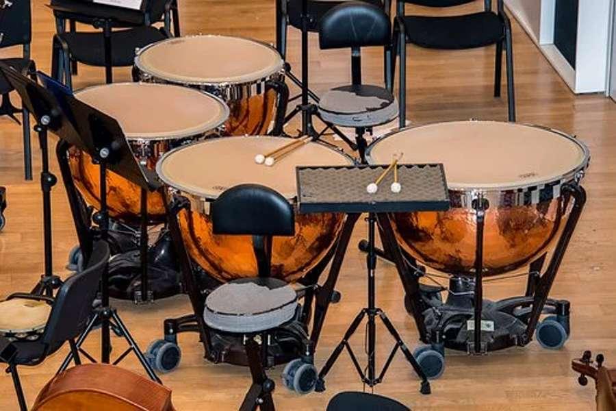 Na zdjęciu widać zestaw kotłów koncertowych.