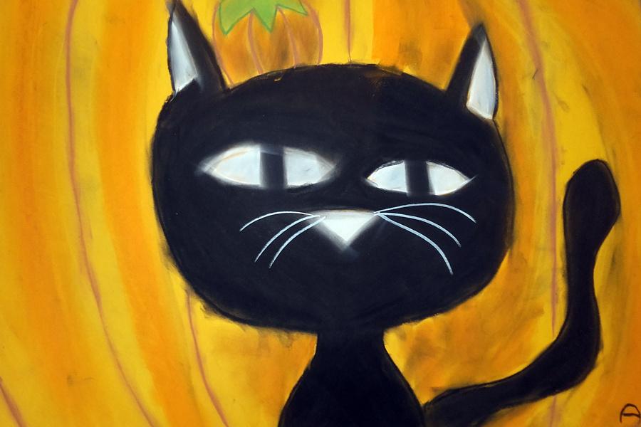 praca plastyczna przedstawiająca kota