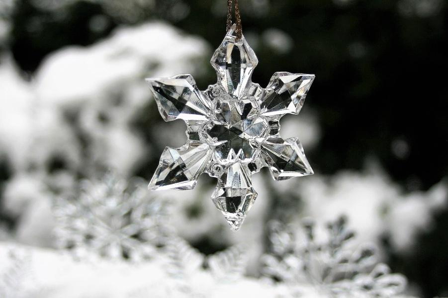 zawieszka w formie lodowej gwiazdki