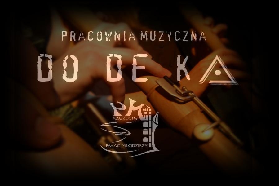 intrumenty muzyczne i napis pracownia Muzyczna Dodeka