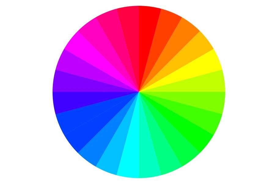 koło w kolorach tęczy