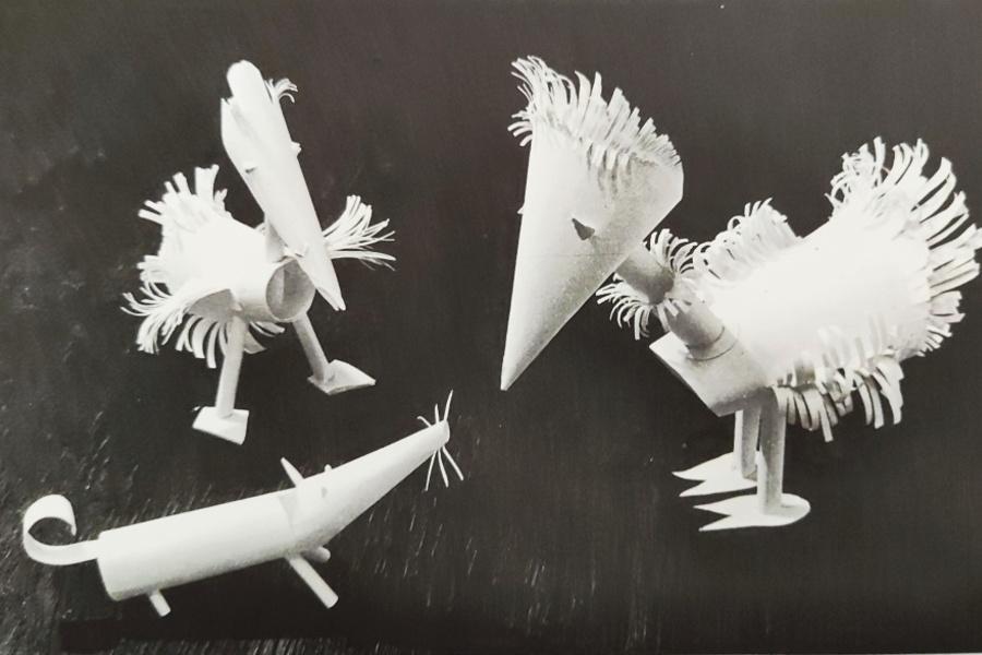 papierowe postacie zwierząt