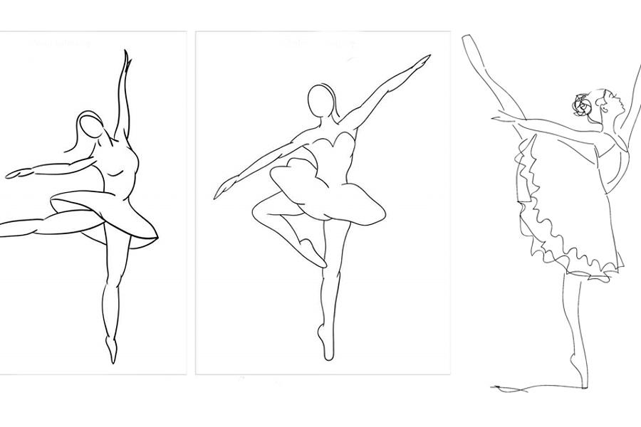Tancerka w ruchu – kreatywność tworzenia na papierze – Pałacowe zajęcia  internetowe