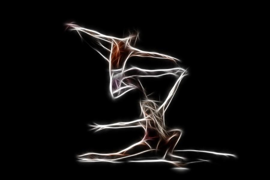 grafika z dwoma osobami tańczącymi