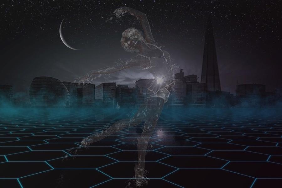 postać rysunkowa baletnicy