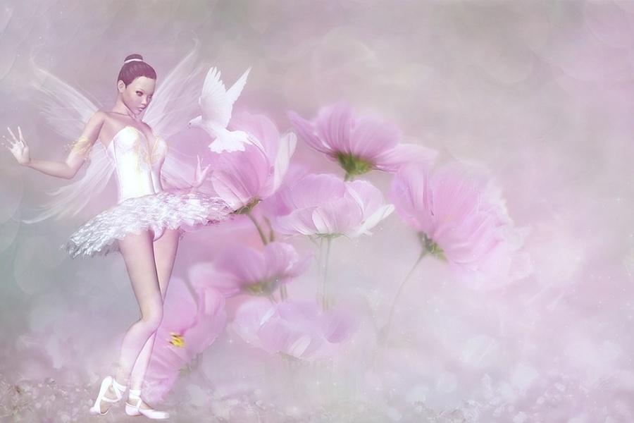 baletnica wróżka ze świata fantazji.