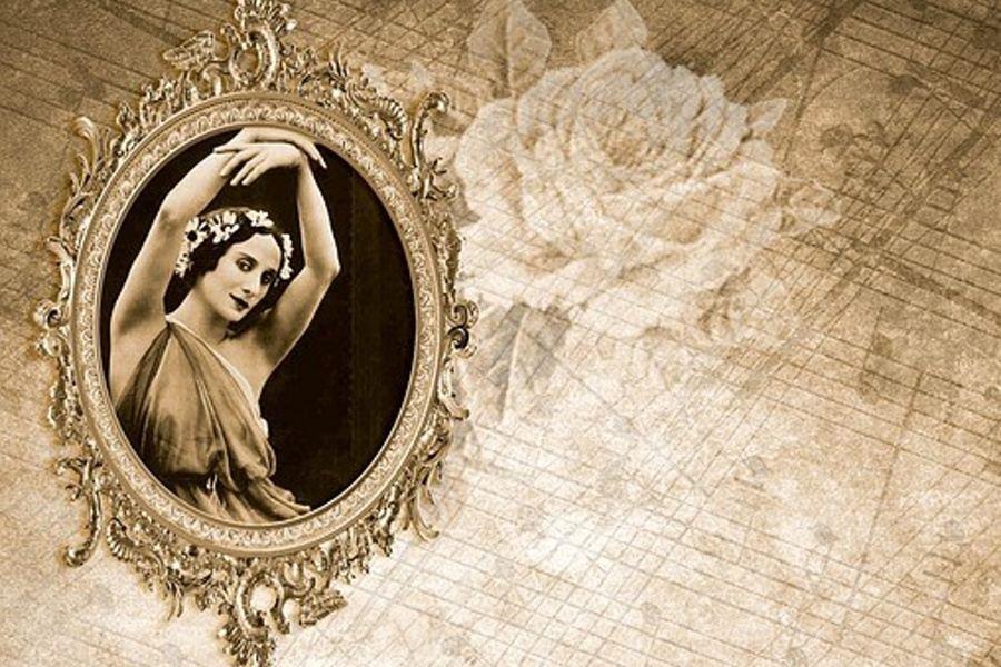 wizerunek tancerki w ramce
