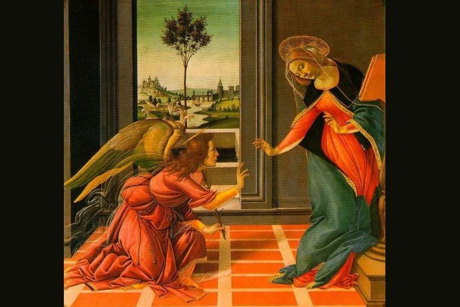 obraz sandro botticelli zwiastowanie_zvcestello