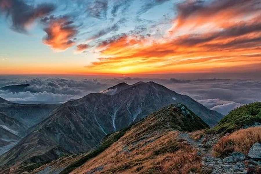 pasmo gór w Japonii