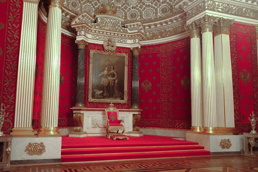 Zdjęcie przedstawia jedno z wnętrz pałacu carskiego w Rosji