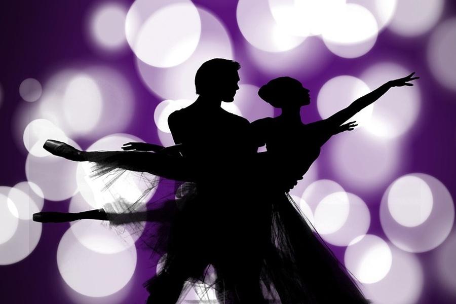 grafika z parą tancerzy