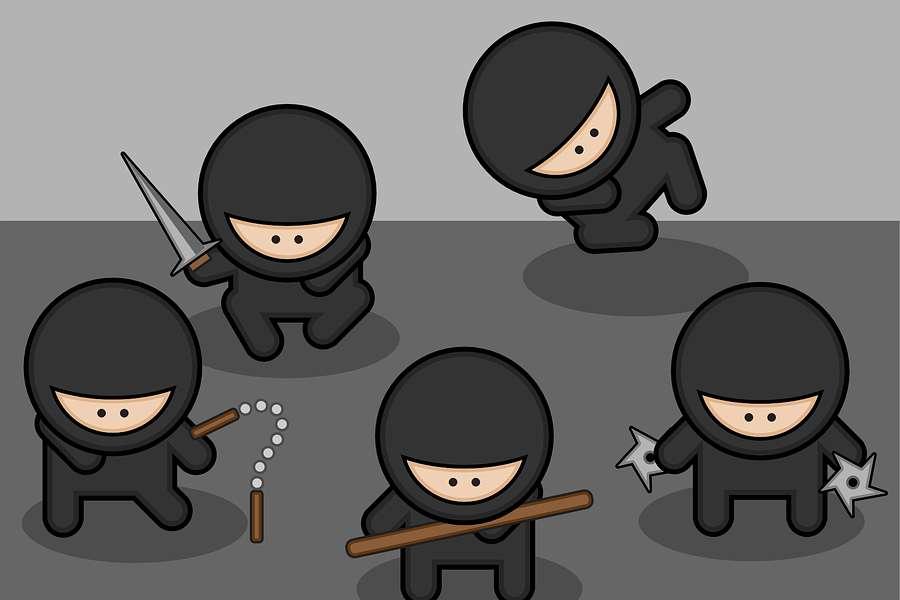grafika przedstawiająca Ninjas