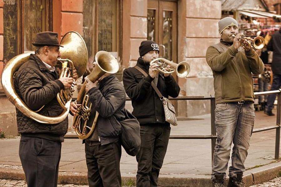 uliczny zespół dęty
