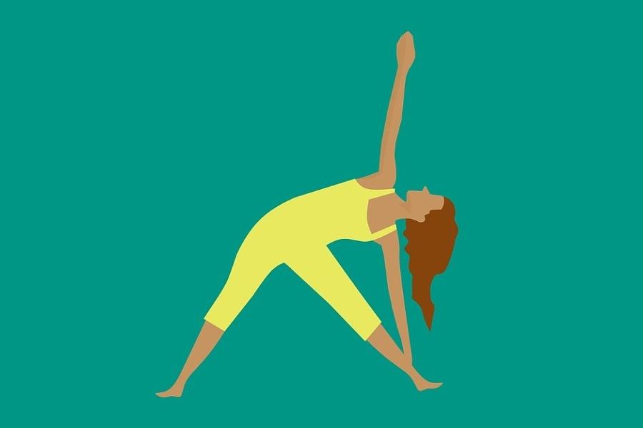 grafika przedstawiająca ćwiczącą kobiete